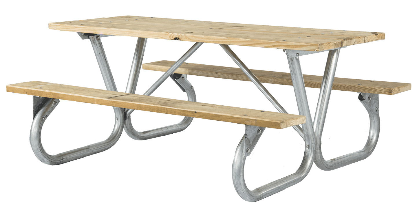 2BG Series Bolted Frame Tables - Treated Wood | Buy Online