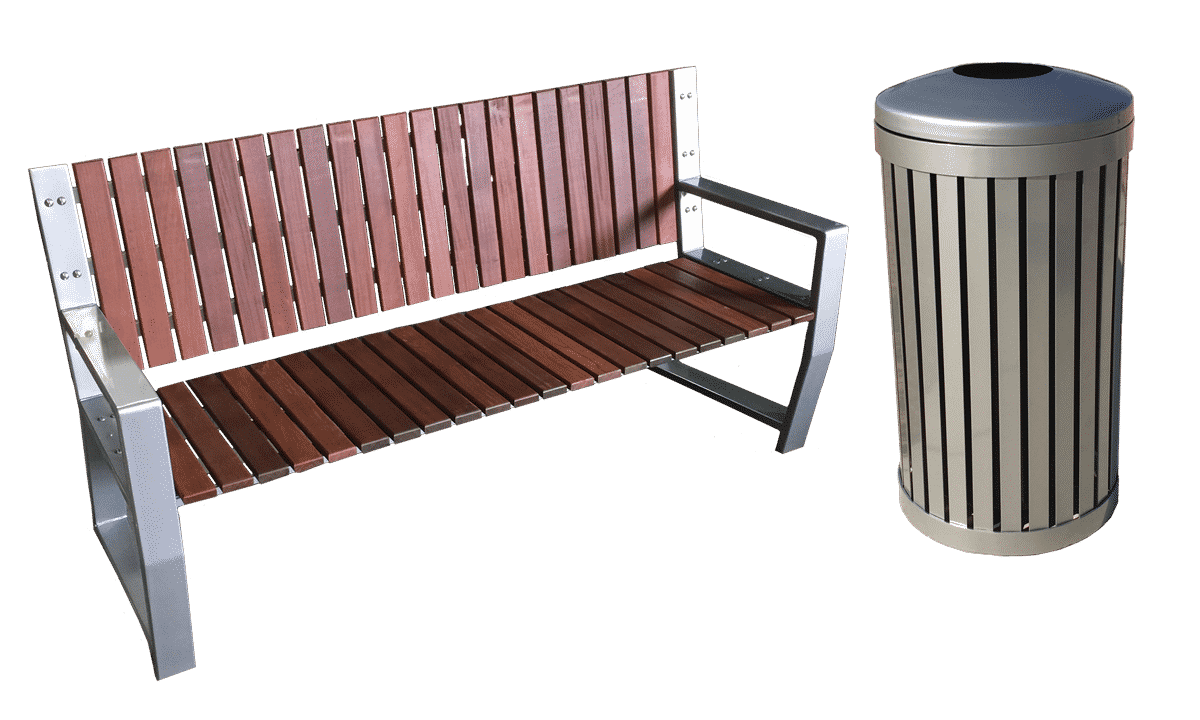 Fabulous Modern Park Bench Vertical Recycled Plastic Slats Powder Coated Steel Frame Gmtry Best Dining Table And Chair Ideas Images Gmtryco