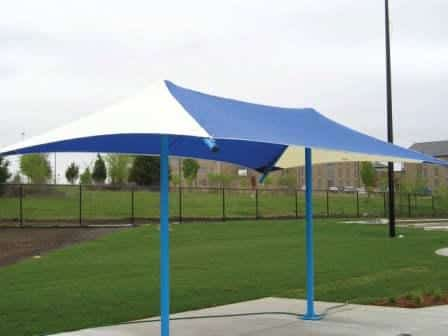 Table Bench Shade Structure Permanent
