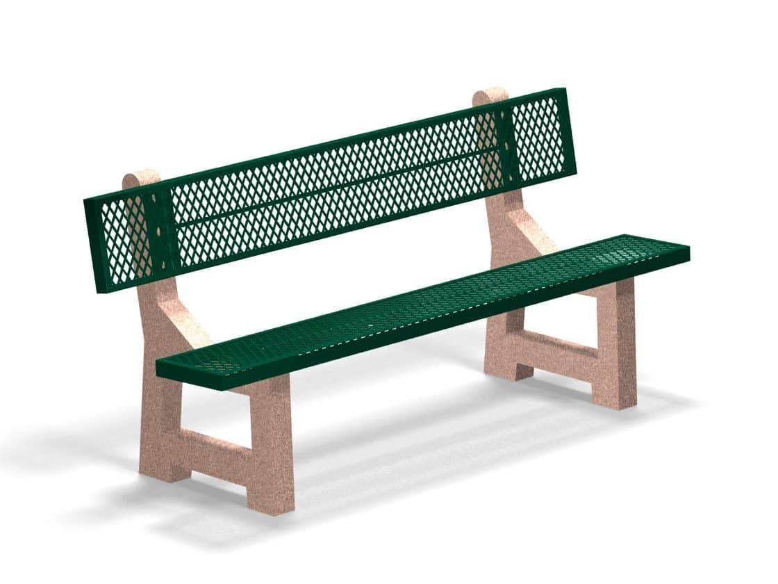 Prime Concrete Base Expanded Metal Bench Thermoplastic Coated Seats Bralicious Painted Fabric Chair Ideas Braliciousco