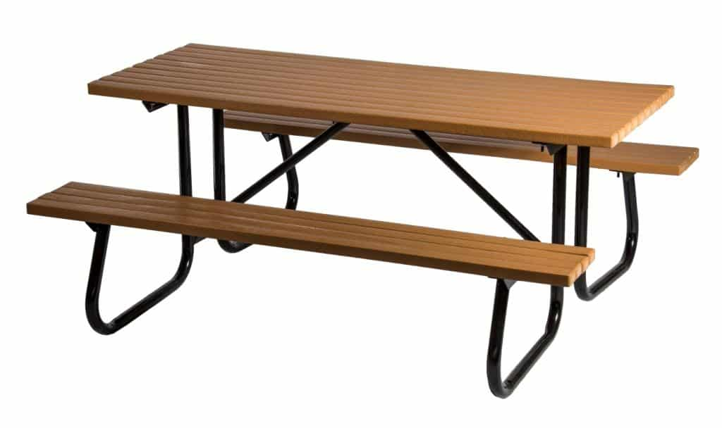 Windsor Select 6 Foot Long Recycled Plastic Table, Free Standing ...