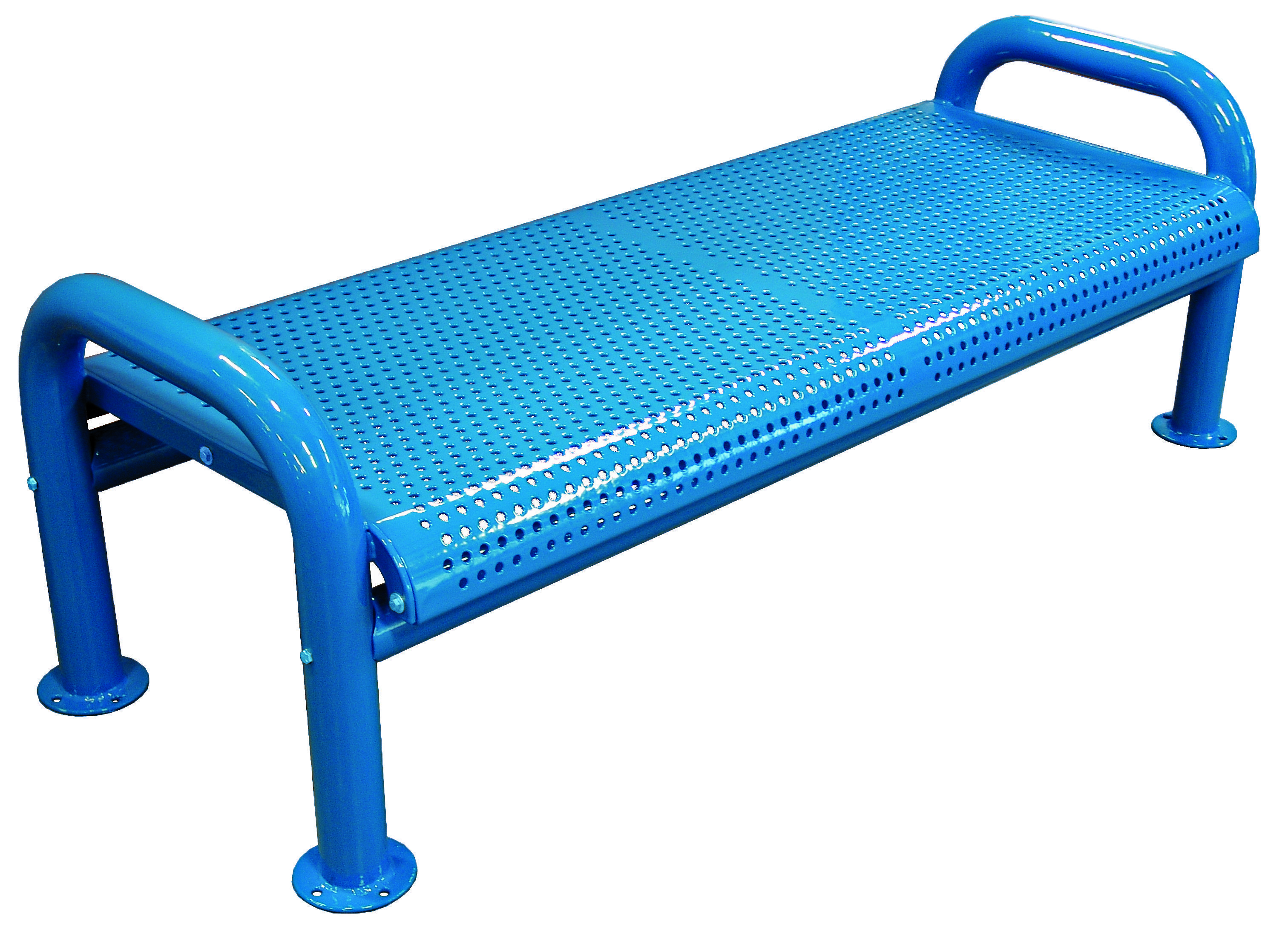 Fantastic U Leg Perforated Backless Bench Thermoplastic Coated Beatyapartments Chair Design Images Beatyapartmentscom