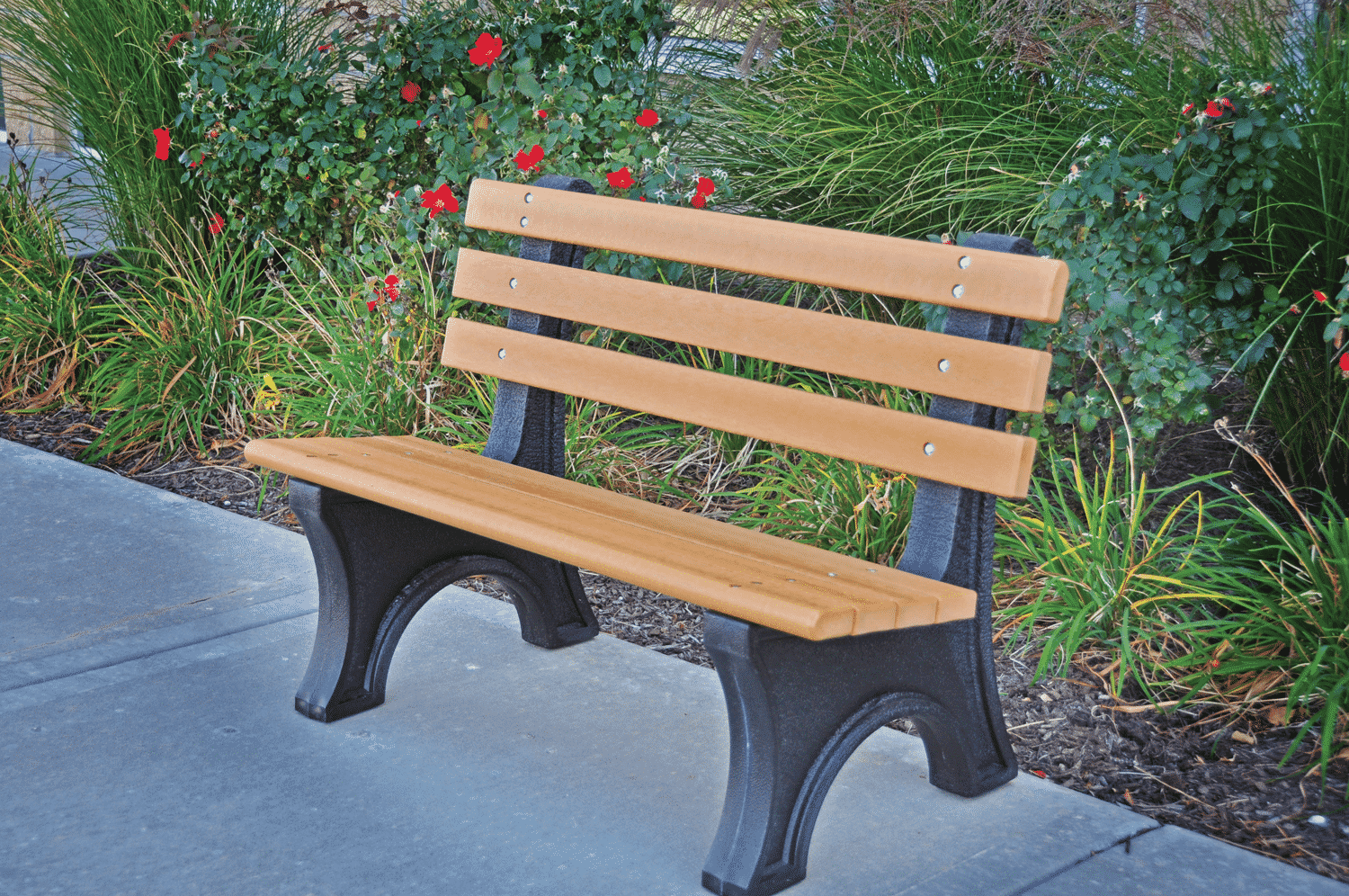 Comfort Park Bench With Back Recycled Plastic Kay Park